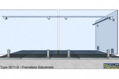 Type 3011-B Frameless  Balustrade
